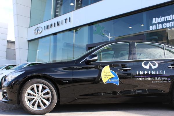 Centro Infiniti Baleares, vehículo oficial del 47 Trofeo Princesa Sofía IBEROSTAR