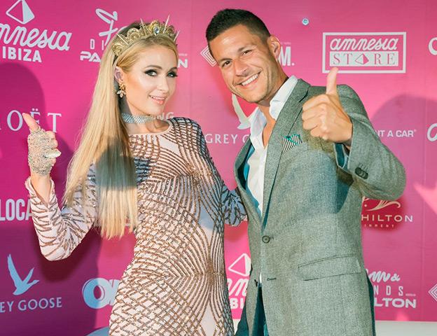 With Paris Hilton's Foam & Diamonds