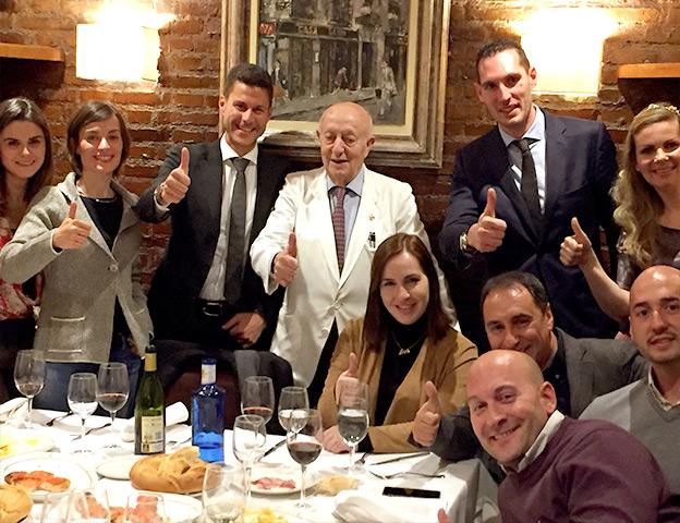 OK Team at Casa Lucio in Madrid