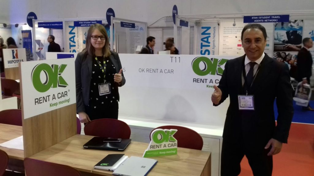 OK Rent a Car took part in the World Travel Market, a leading event in the tourist industry