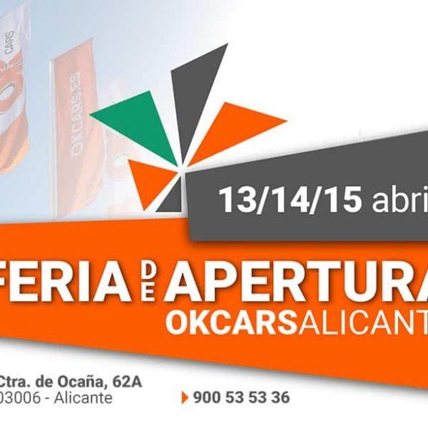 ¡Aprovecha los 3 días de súper descuentos en la Gran Feria de apertura de OK Cars Alicante!