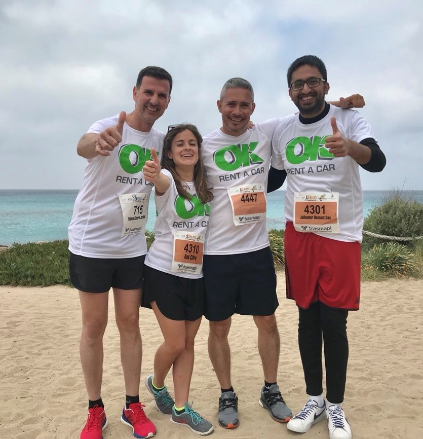 OK Rent a Car participa en la X Media Maratón Popular Illa de Formentera
