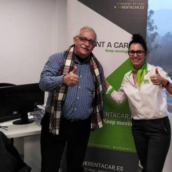 El primer cliente de la oficina OK Rent a Car de Bilbao